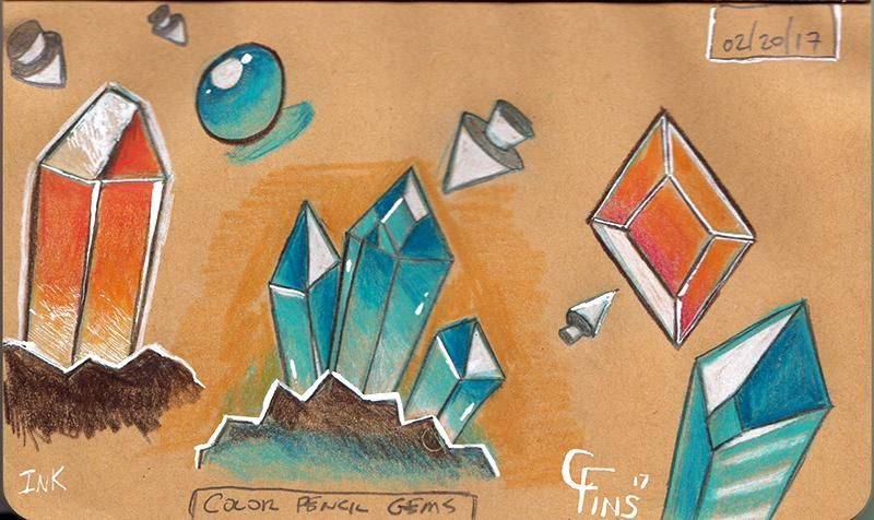 Crystal Sketching (WIP) - image 2 - student project