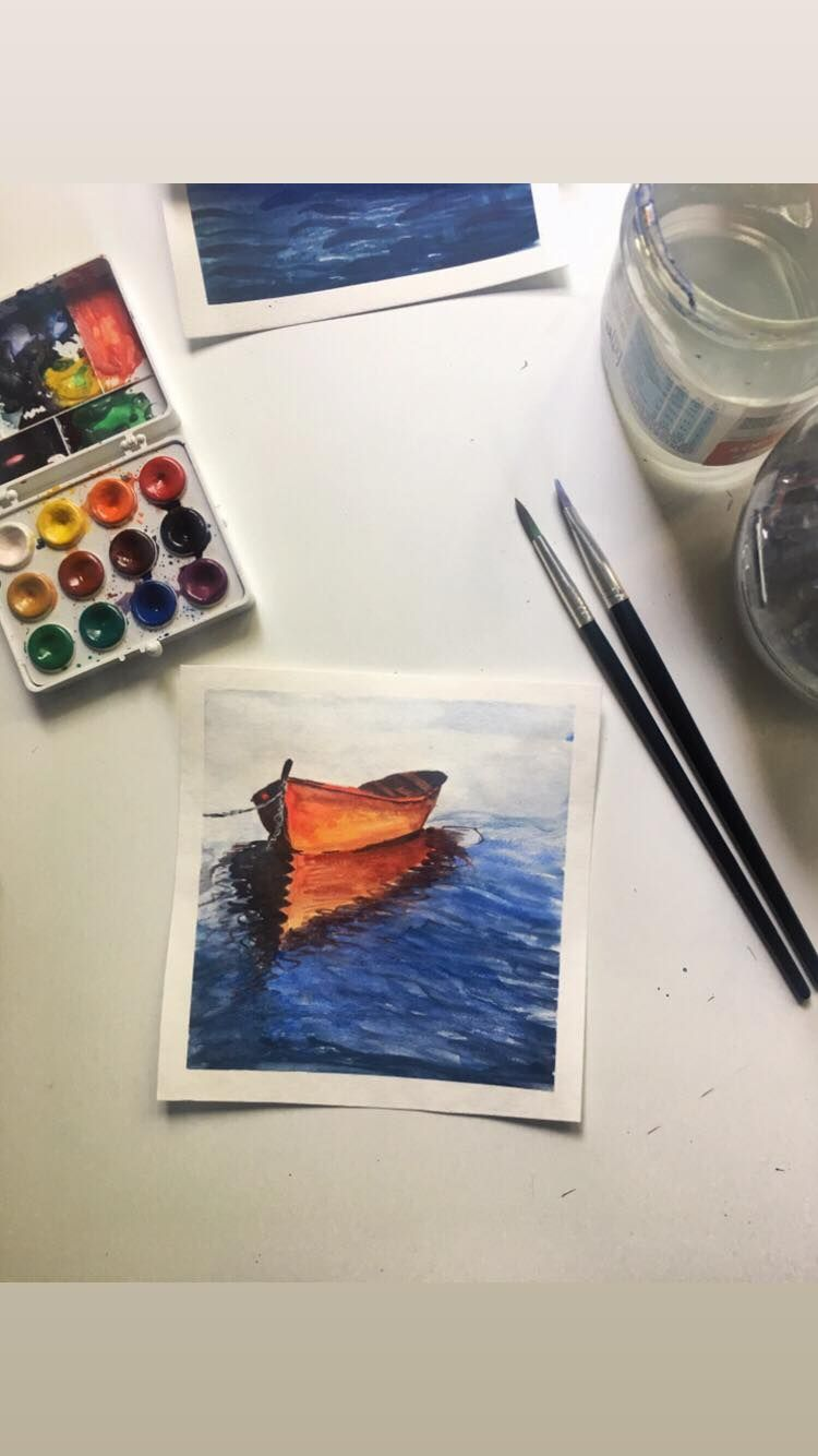 Watercolor seascapes - image 2 - student project
