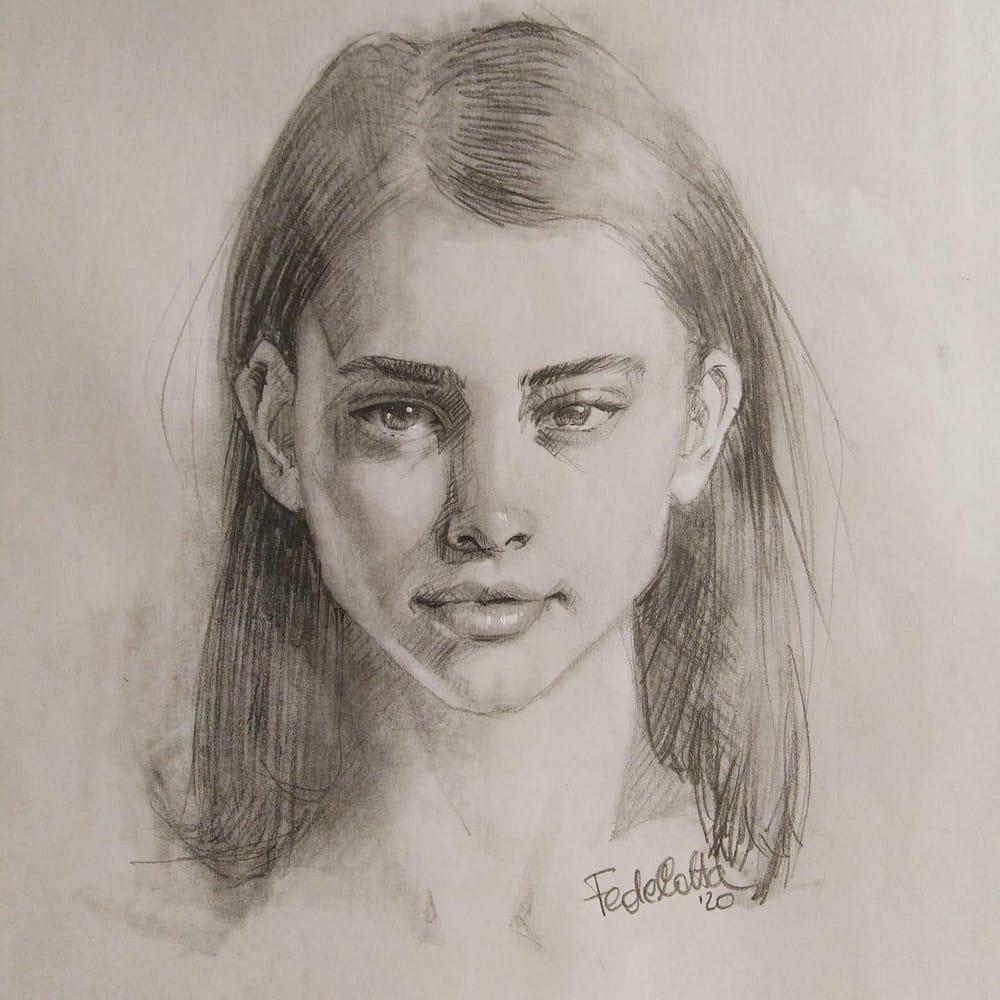 Pencil portrait - image 3 - student project