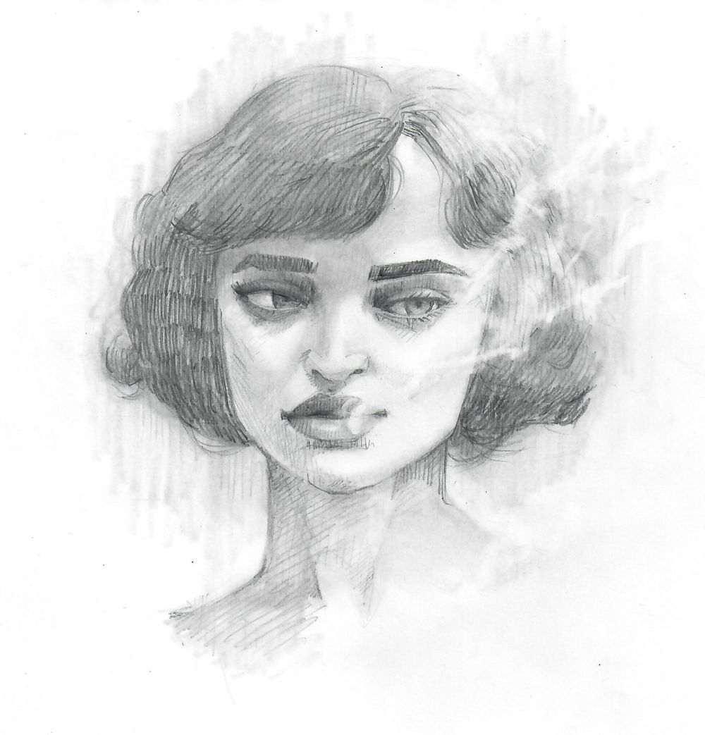 Pencil portrait - image 1 - student project