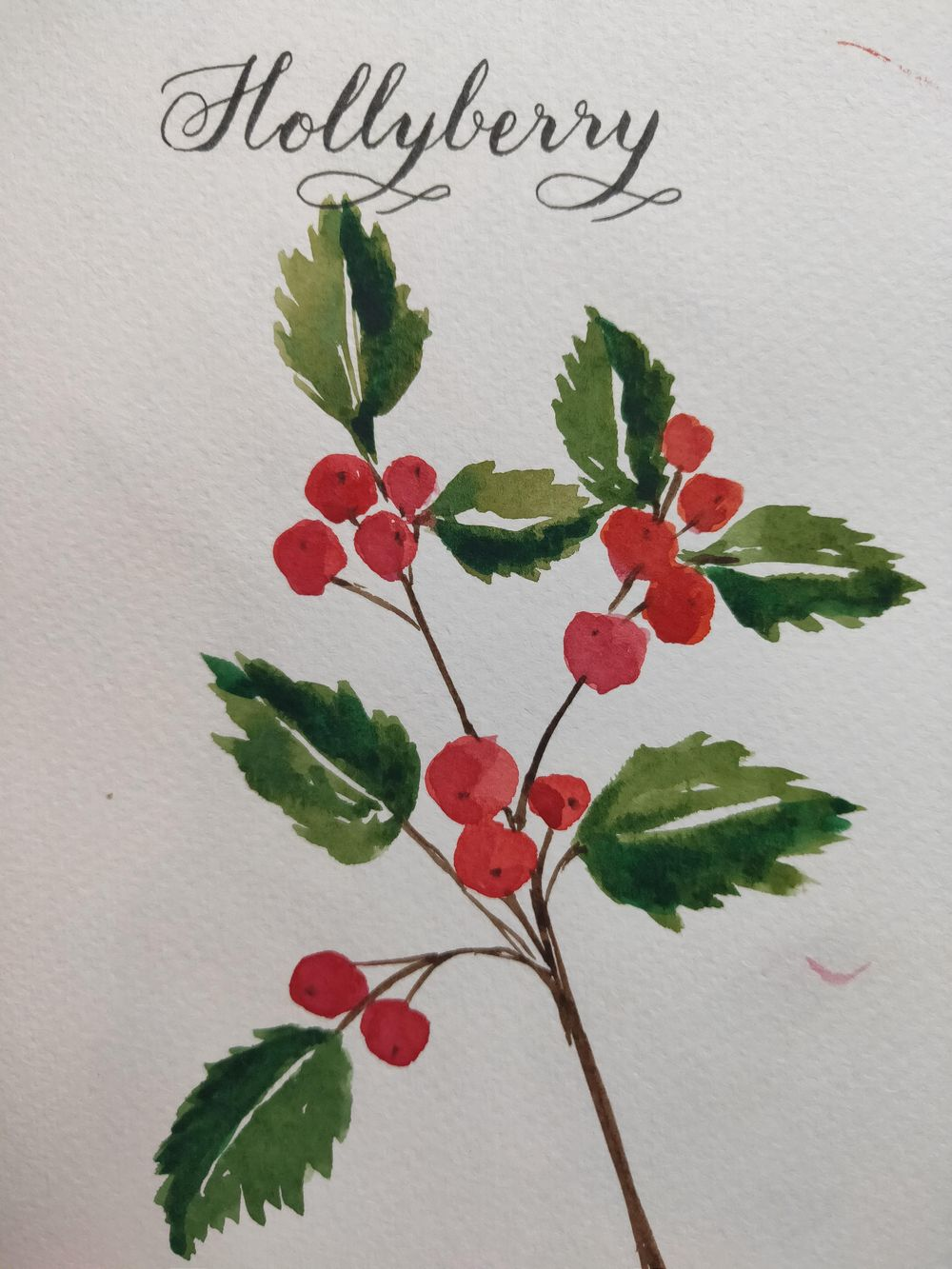 Loose Winter/Christmas Florals - image 3 - student project
