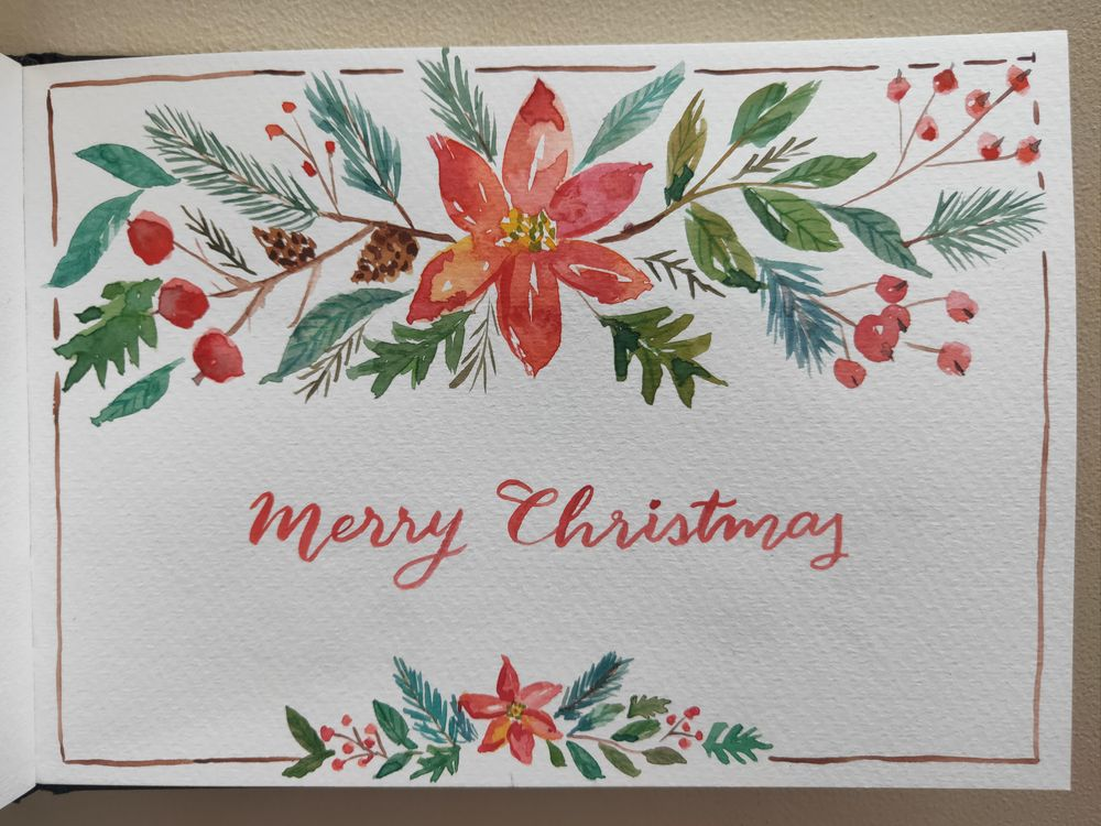 Loose Winter/Christmas Florals - image 11 - student project