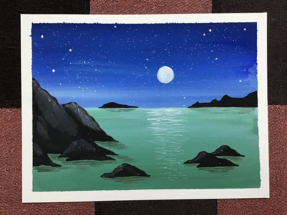 Gouache beaches! - image 1 - student project