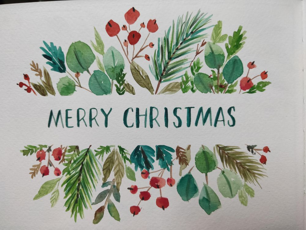 Loose Winter/Christmas Florals - image 12 - student project
