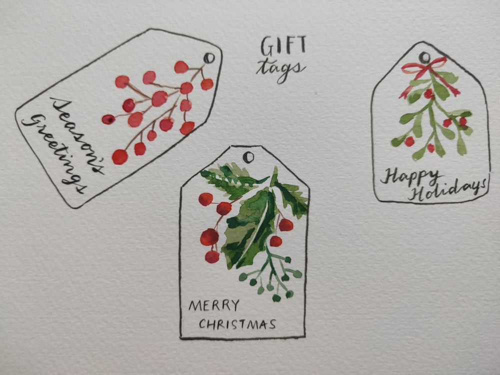 Loose Winter/Christmas Florals - image 13 - student project