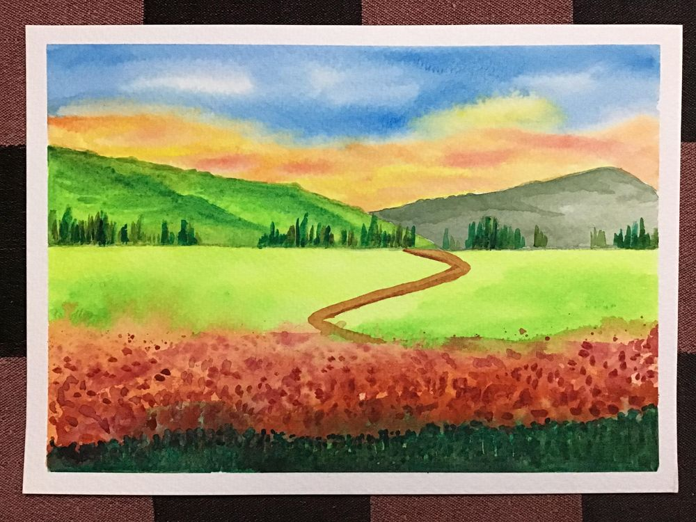Amazing start to watercolour landscapes! - image 8 - student project