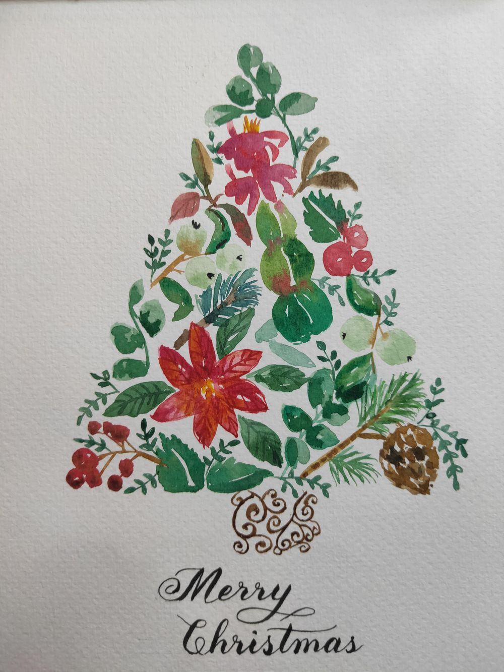 Loose Winter/Christmas Florals - image 10 - student project