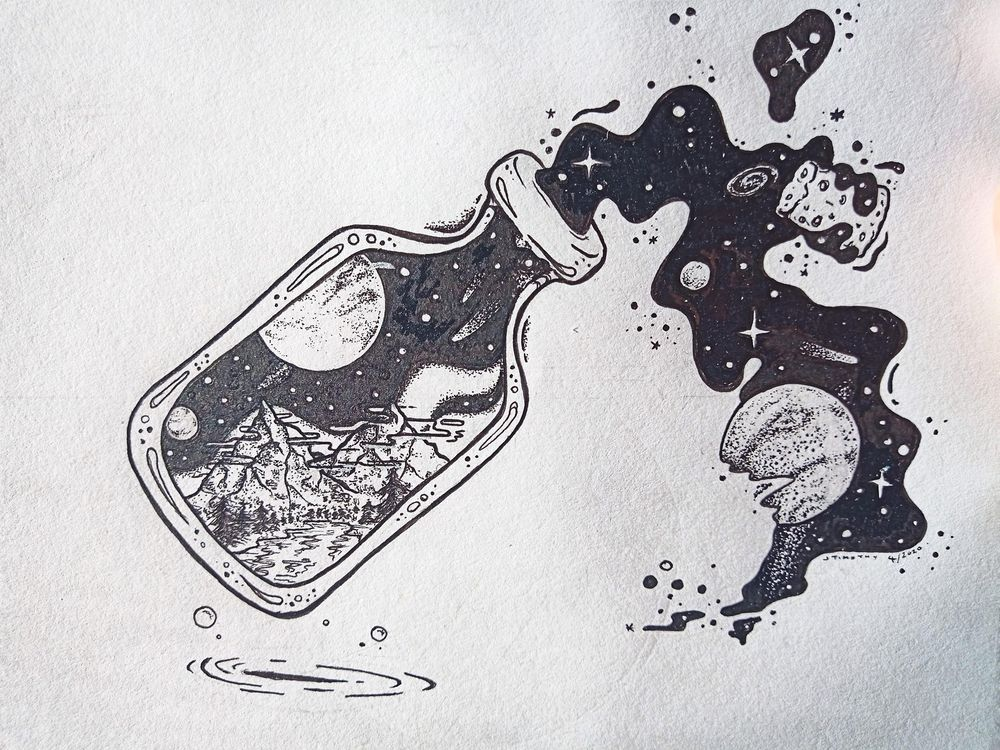 Space in a Bottle - image 1 - student project