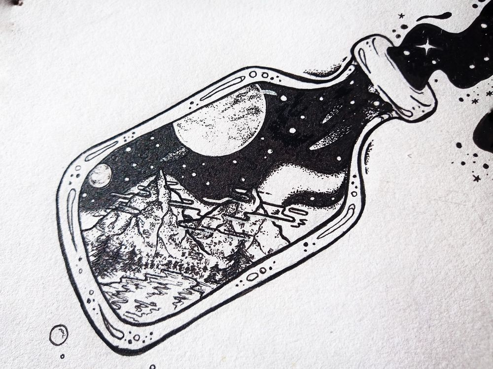Space in a Bottle - image 2 - student project