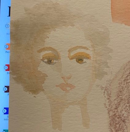 Watercolour portrait - first time - image 1 - student project
