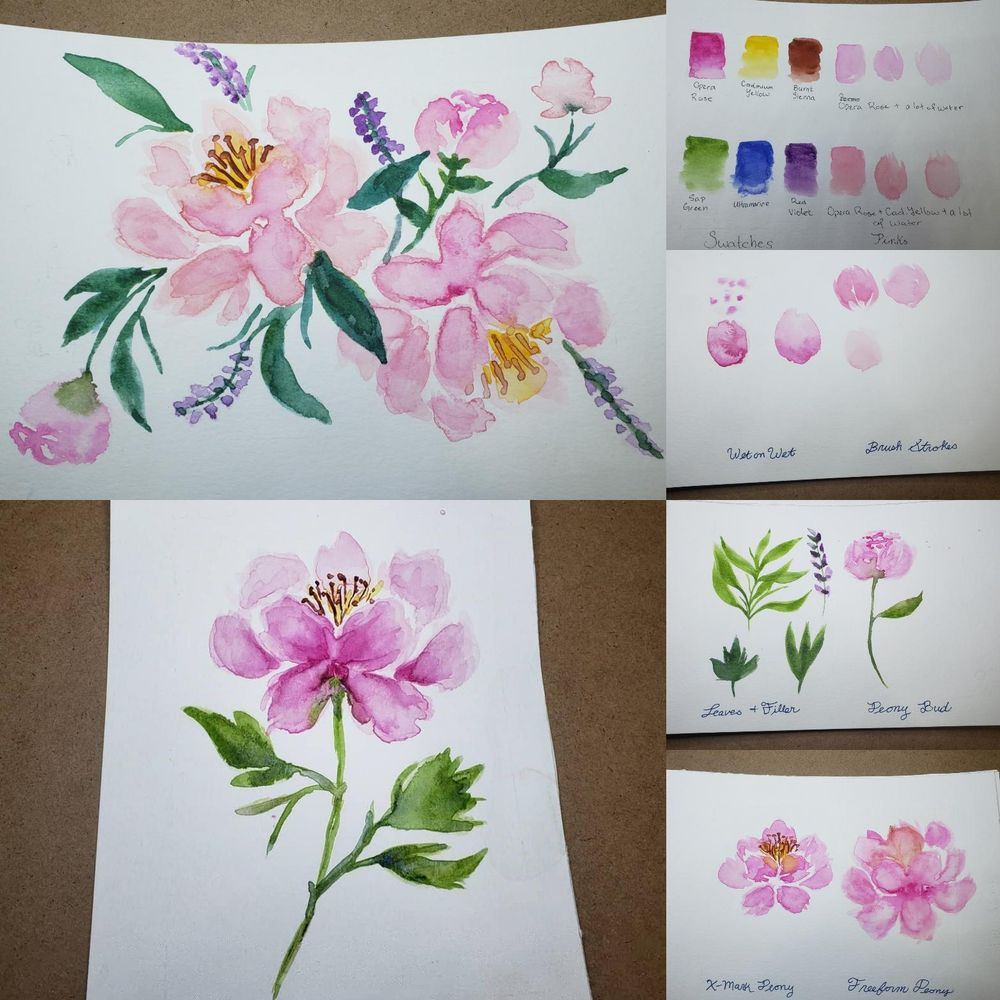 Peonies with Joly Poa - image 1 - student project