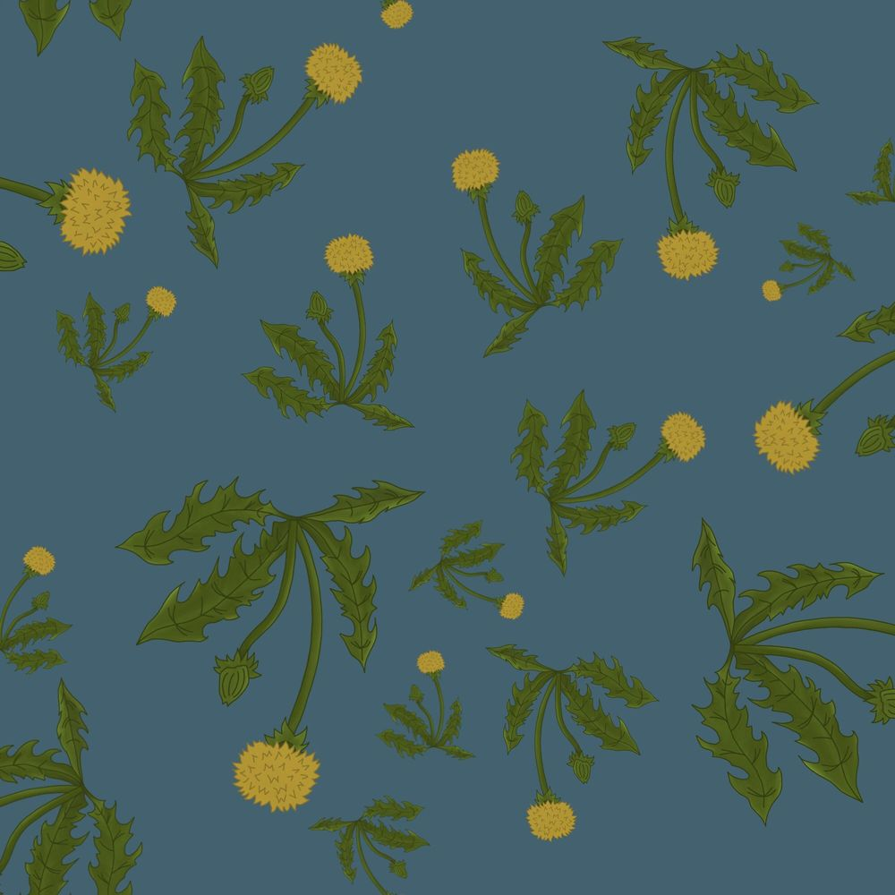 Floating Dandelions Half-Drop Pattern - image 1 - student project