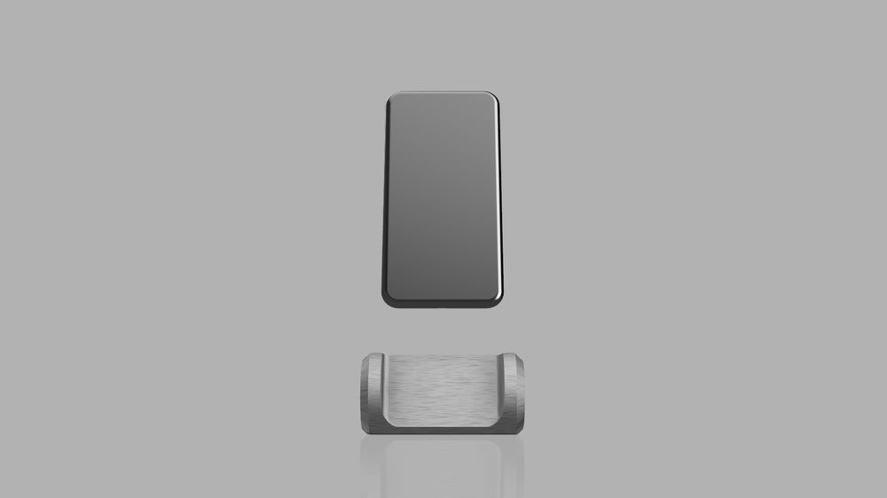 Brushed metal iPhone stand - image 2 - student project