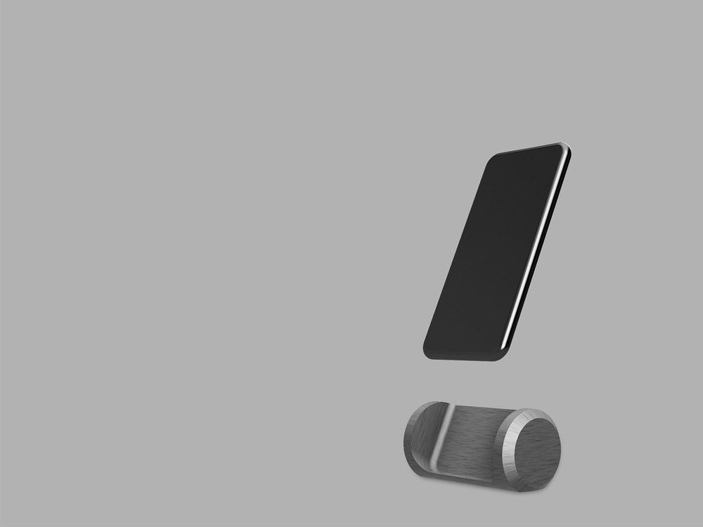 Brushed metal iPhone stand - image 1 - student project