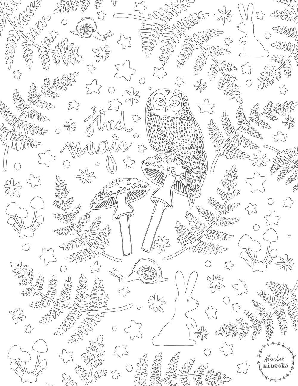 Studio Ninocka - Coloring Page - image 1 - student project