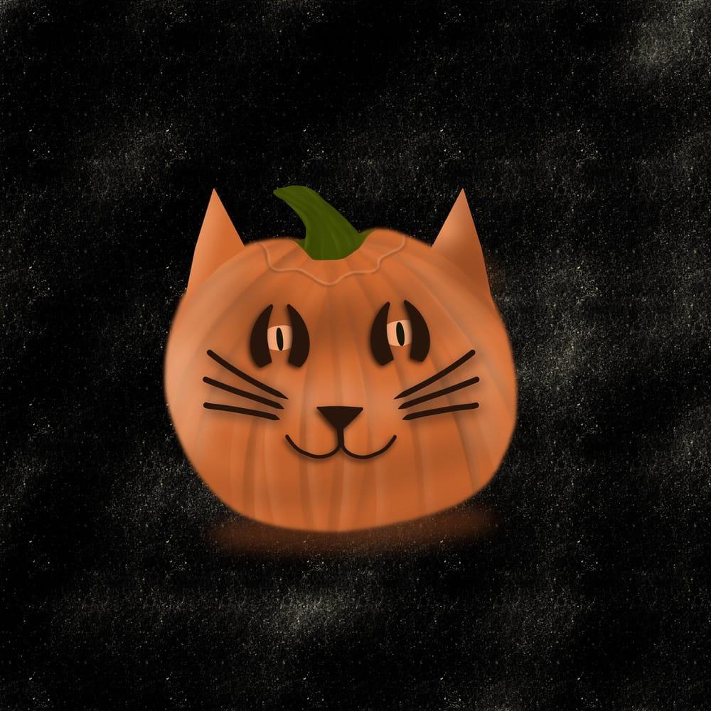 Kitty pumpkin - image 1 - student project