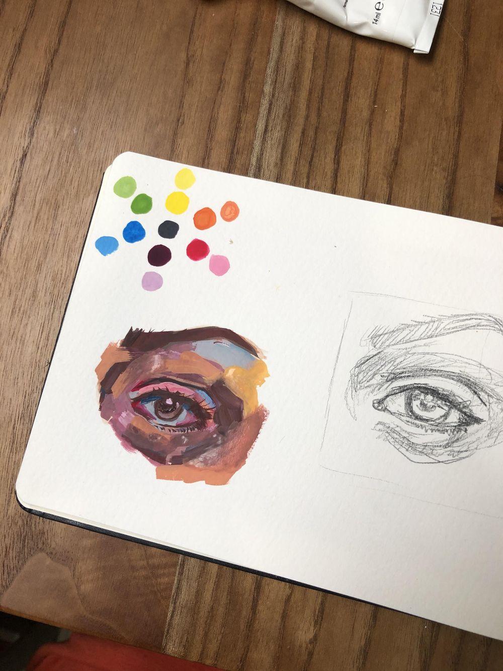 Gouache eye - image 1 - student project