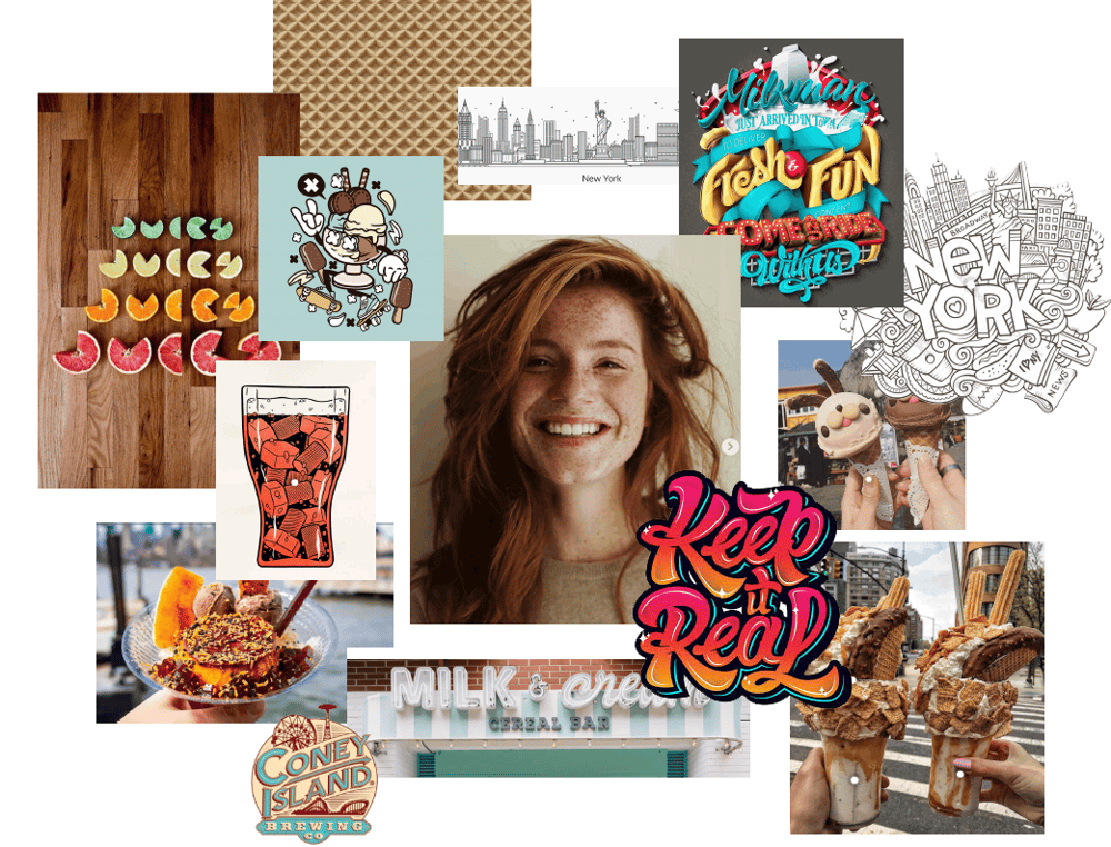 Moodboard for an ice cream store - image 4 - student project