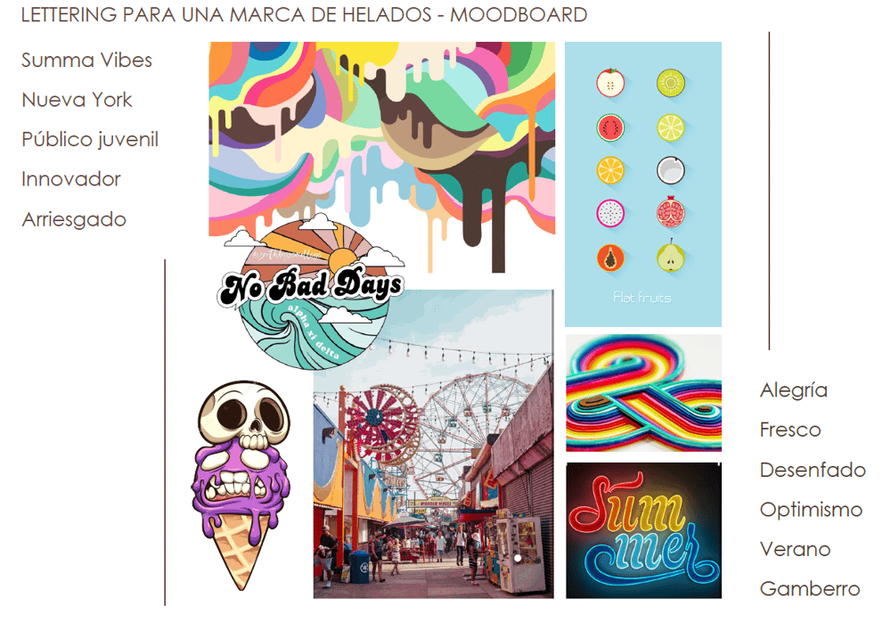 Moodboard for an ice cream store - image 1 - student project