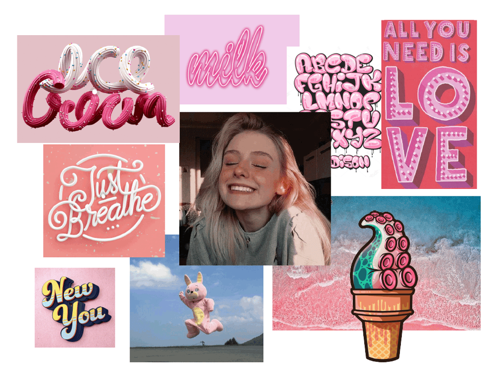 Moodboard for an ice cream store - image 2 - student project