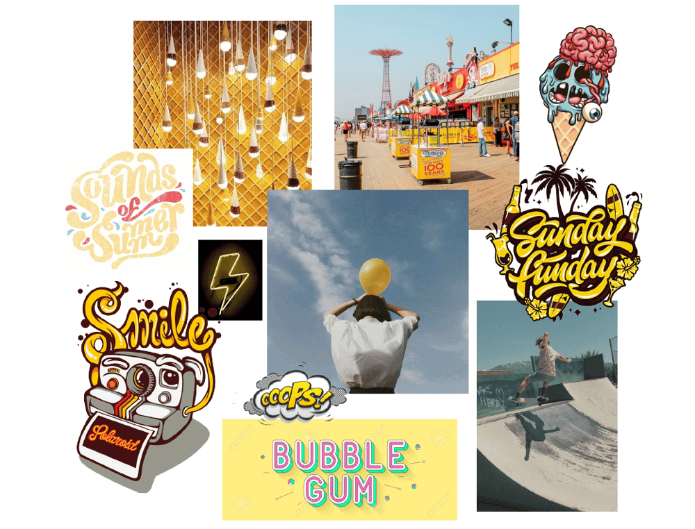 Moodboard for an ice cream store - image 3 - student project
