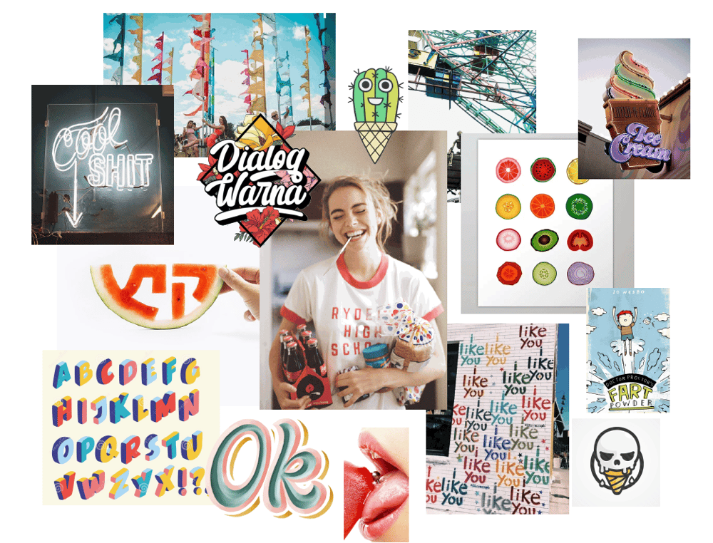 Moodboard for an ice cream store - image 5 - student project