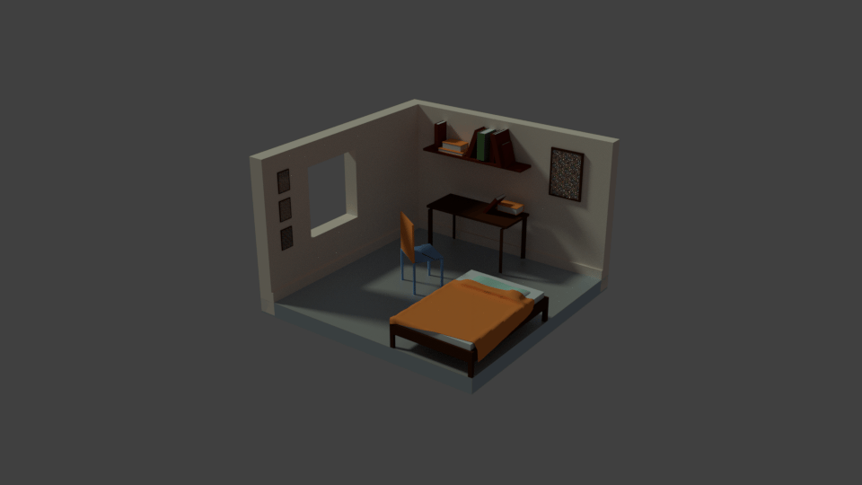My own low poly room —step by step - image 1 - student project