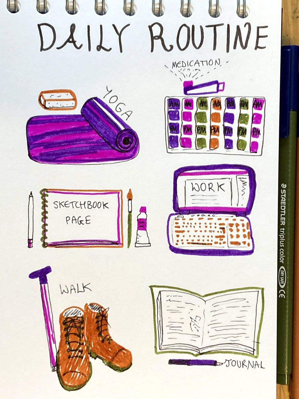 Illustrated Journalling - image 6 - student project