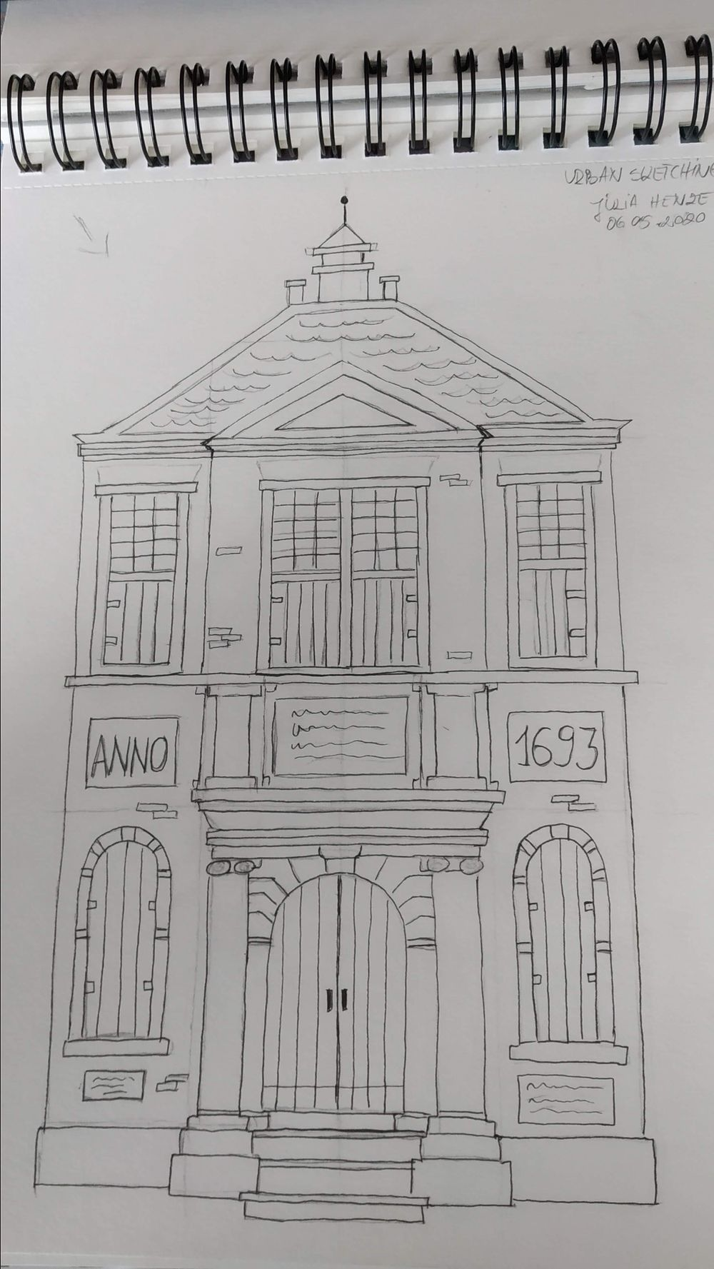Urban Sketching - image 3 - student project