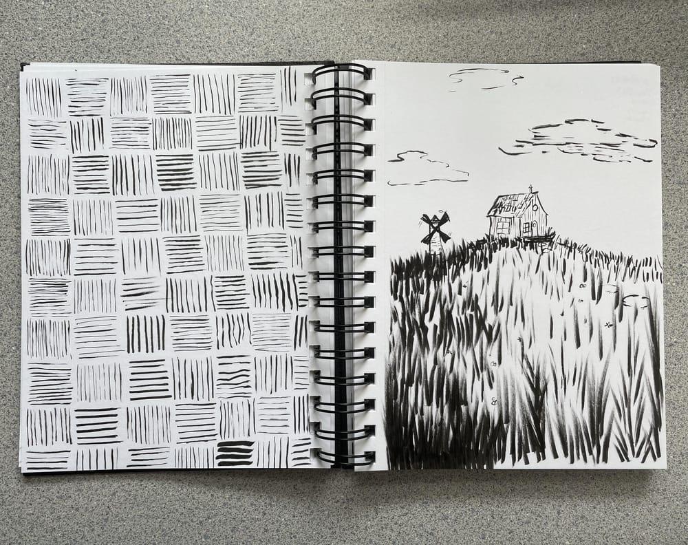 Brush pen exploration - image 1 - student project