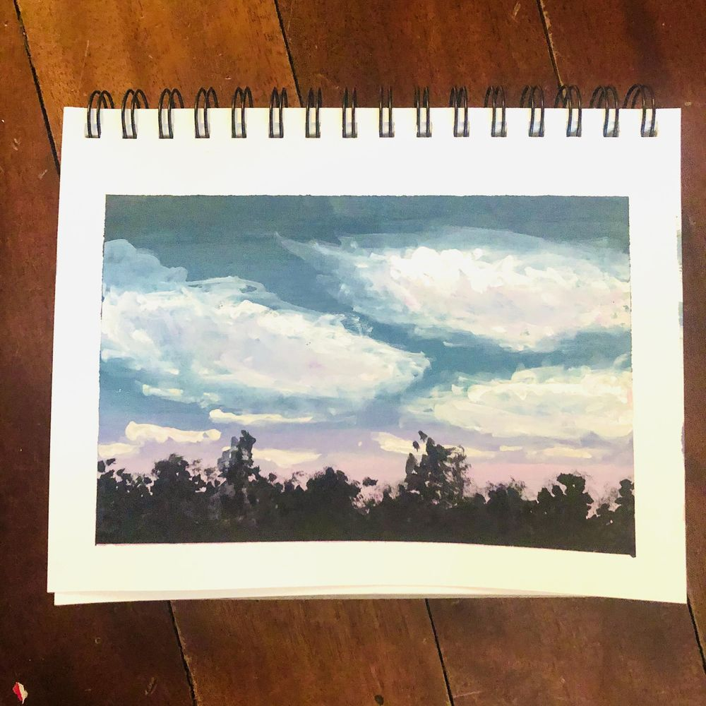 Gouache sunset - image 1 - student project