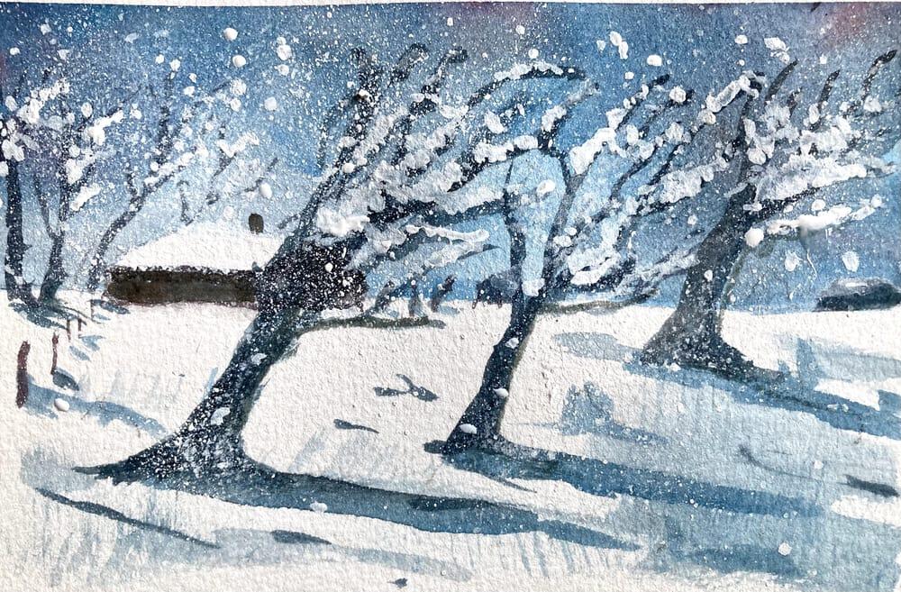Snow landscape - image 7 - student project