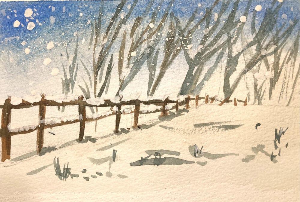 Snow landscape - image 4 - student project