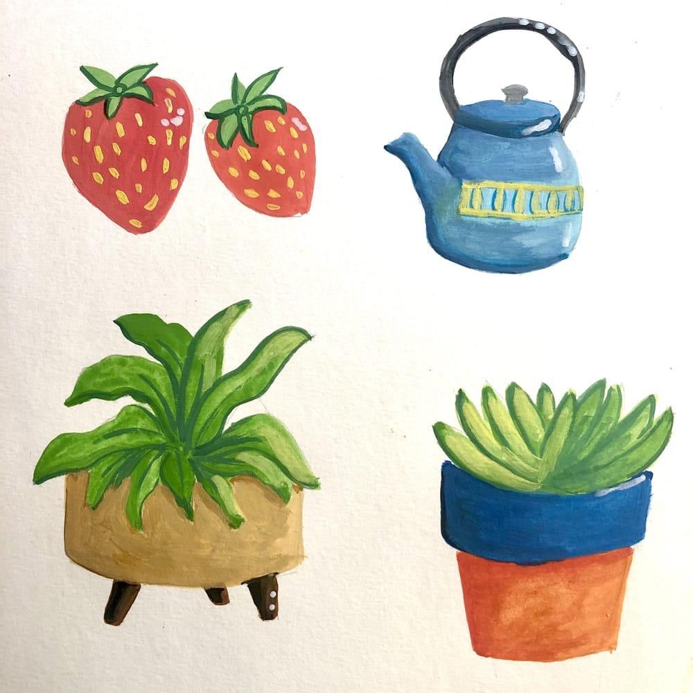 Gouache fun - image 1 - student project