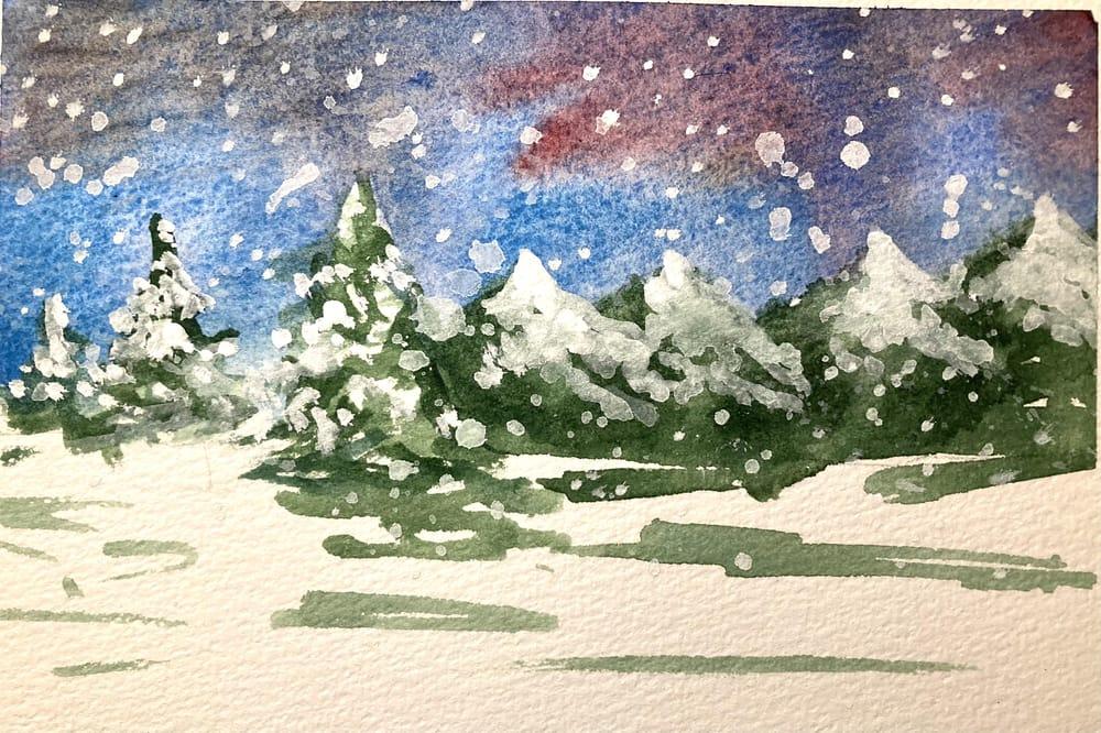 Snow landscape - image 9 - student project