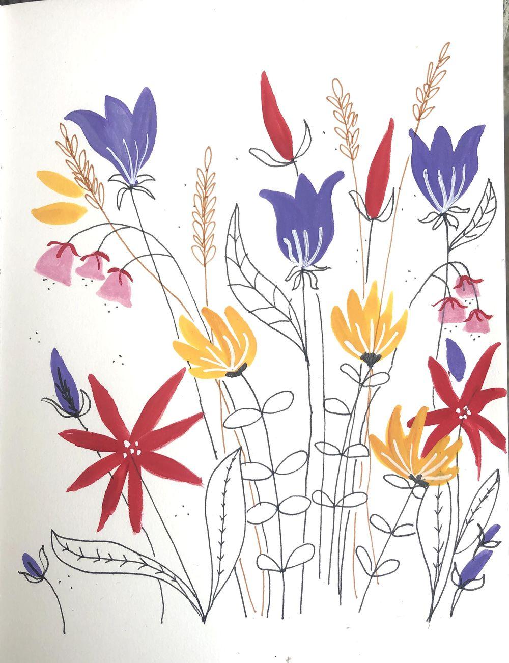 Decorative flowers - image 1 - student project