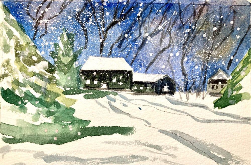 Snow landscape - image 2 - student project
