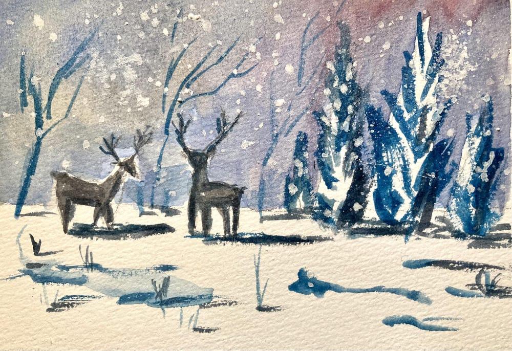 Snow landscape - image 8 - student project