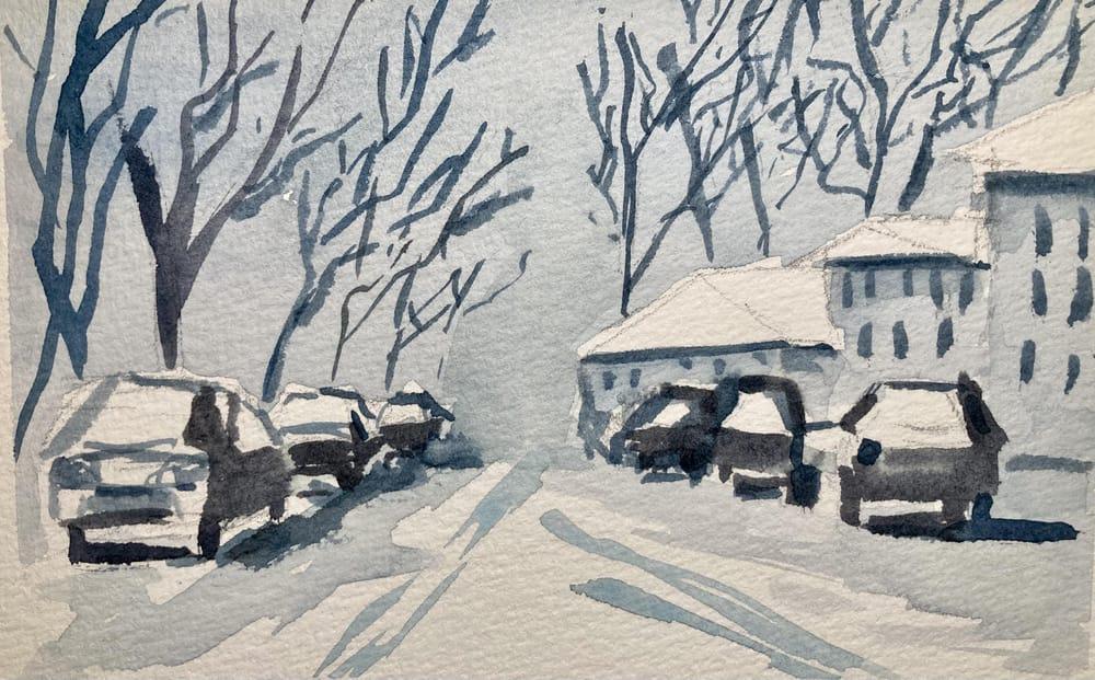 Snow landscape - image 1 - student project