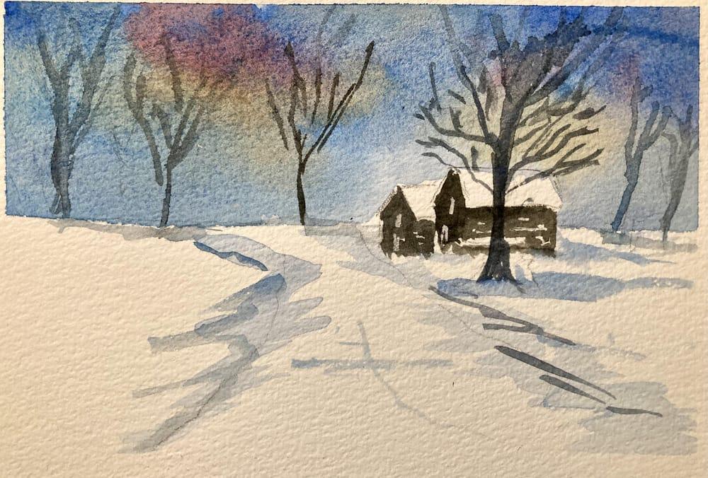Snow landscape - image 5 - student project