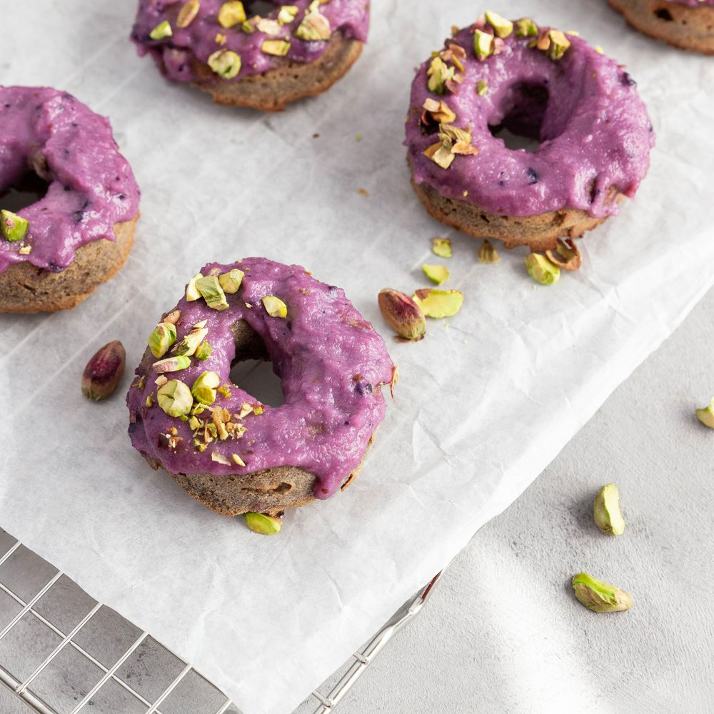 Blackberry Pistache Donuts - image 4 - student project