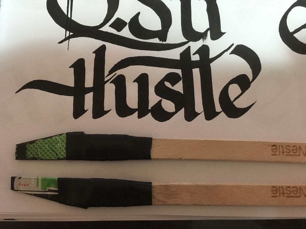 """The decorative word """"Hustle"""" - image 2 - student project"""