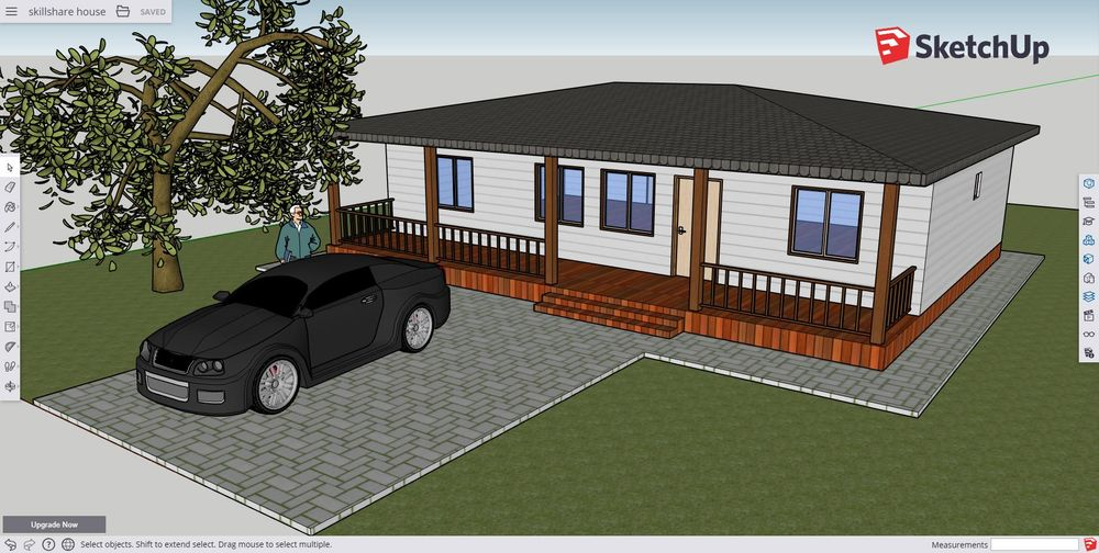 My skillshare sketchup house - image 1 - student project