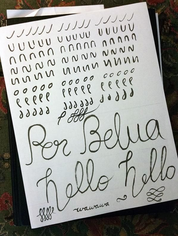 Bounce Lettering and practice strokes - image 1 - student project