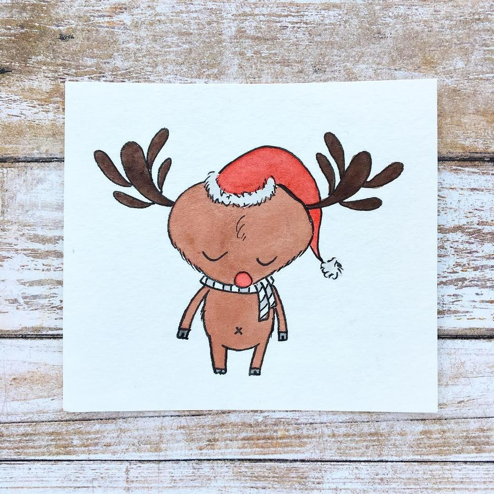 """""""You Can Draw Christmas Cuties!"""" Class by Yasmina Creates - image 2 - student project"""