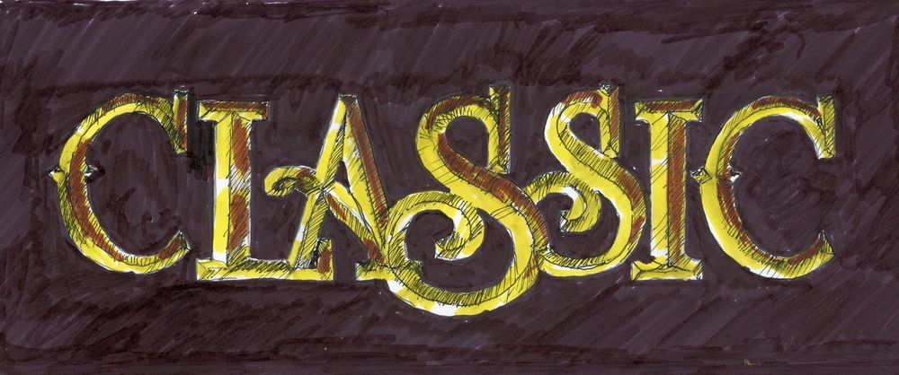 Carved Gold Leaf letters   Texture - image 1 - student project