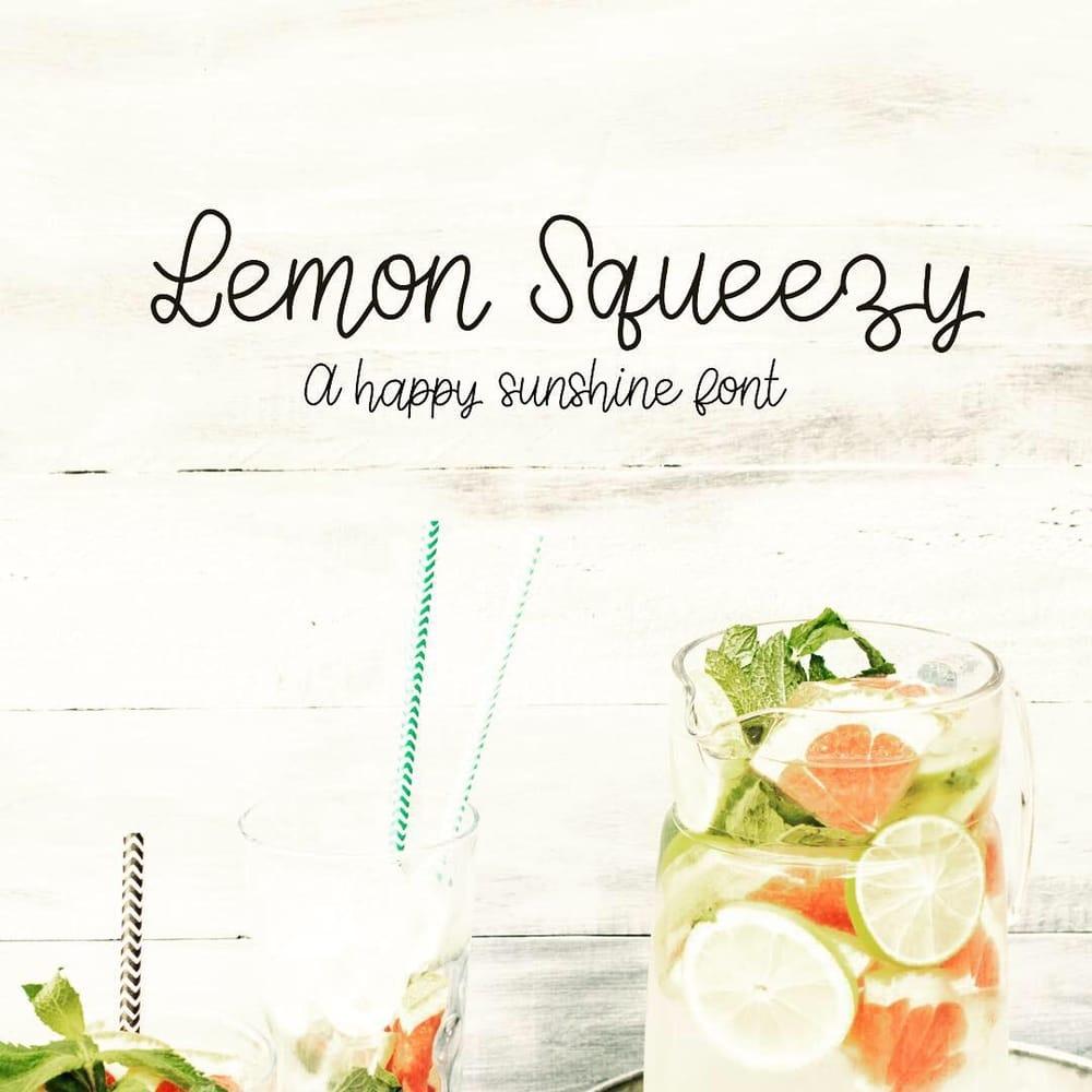 Lemon Squeezy Font - image 1 - student project