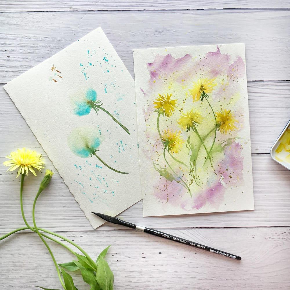 Expressive Florals: Dandelions - image 1 - student project