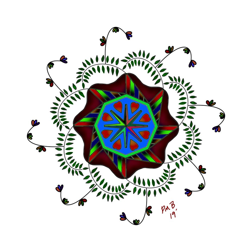 Mandala (very 1st attempt) - image 1 - student project