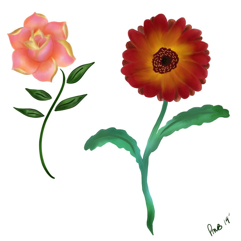 Painted Flowers - image 1 - student project
